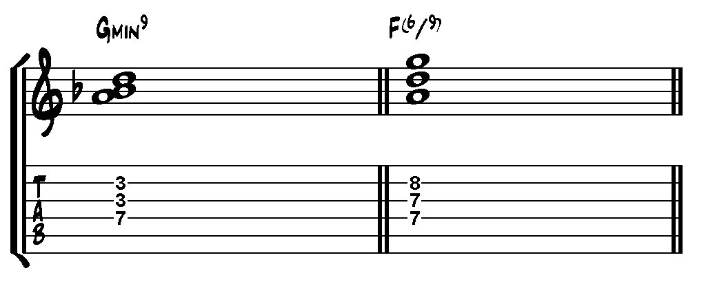 Example 5 - Hall's pianistic voicings